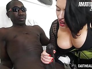 AMATEUR EURO - Big Tits Brunette Paola Diamante Indulge In Interracial Fun With An Old Friend